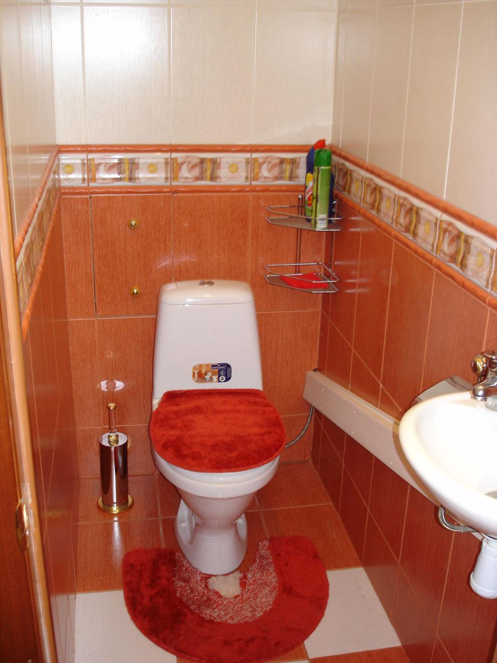 Как оформить туалет в квартире своими руками фото